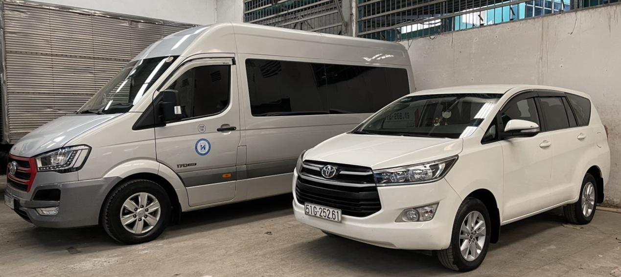 Cho thuê xe 16 chỗ từ Akari City đi Châu Đốc