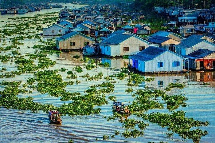 Đây là ngôi làng độc đáo tại Việt Nam được xây dựng dựa trên các bè nổi
