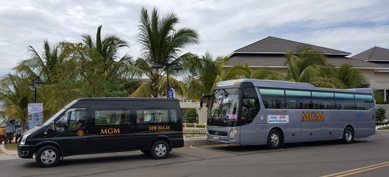 Xe phục vụ đoàn khách du lịch Total tại Resort Sealink 5 sao Phan Thiết
