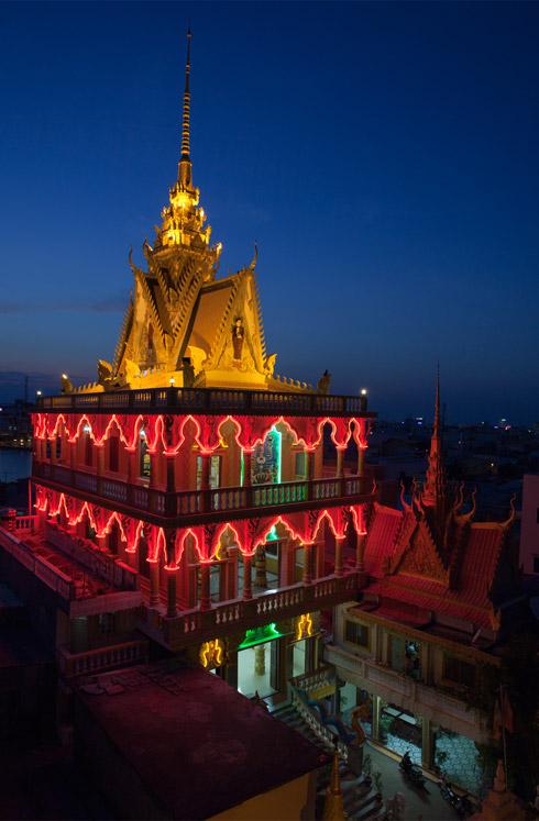 chùa Munir Ansay  đã trở thành biểu tượng của kiến trúc Khmer độc đáo và ấn tượng